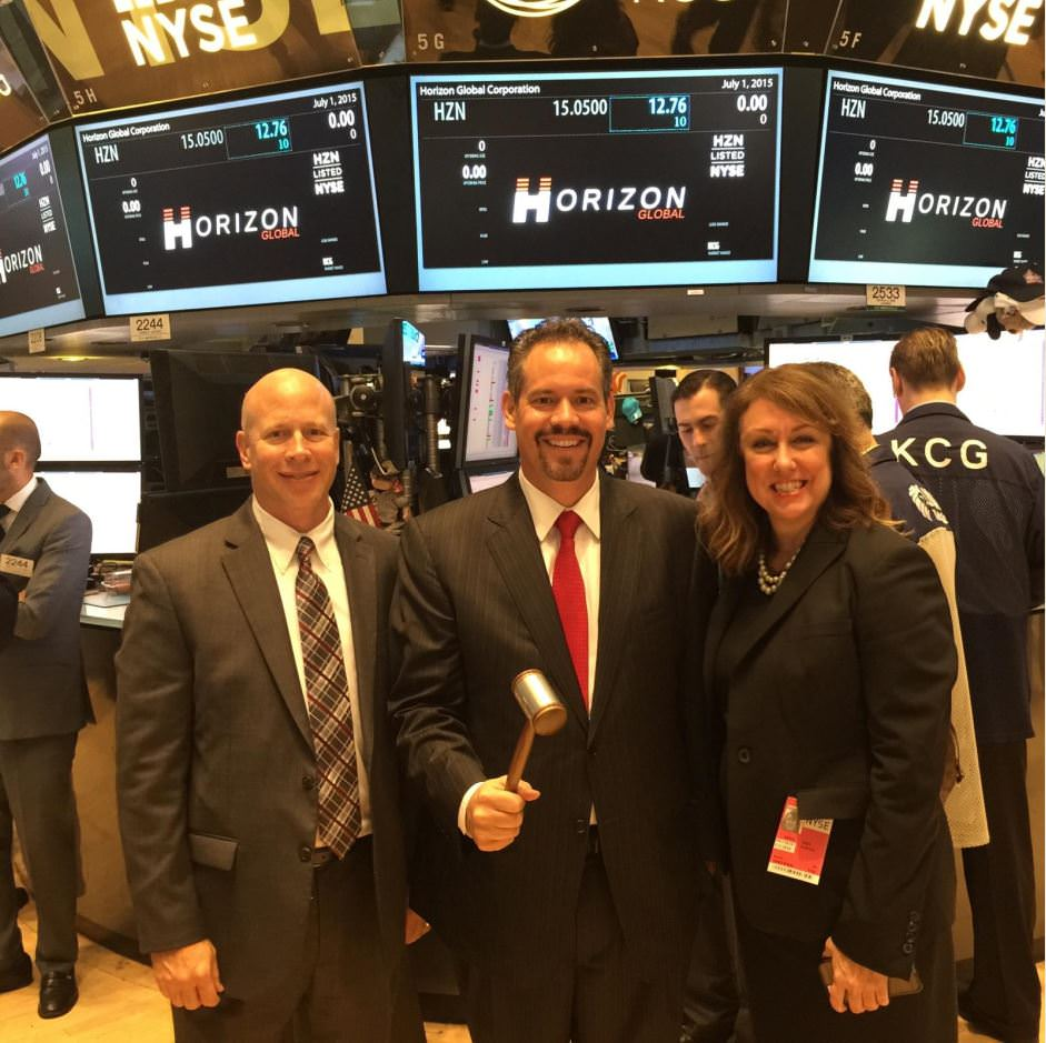 Horizon Global Opening Day at the NYSE