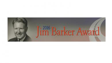 Photo of Jim Barker Award Application Deadline May 2
