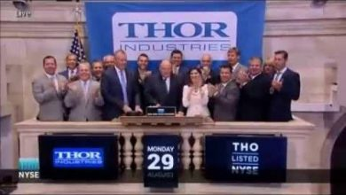 Photo of Thor Executives Ring NYSE Closing Bell