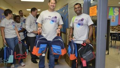 Photo of Ally Delivers Supplies to Charlotte Students