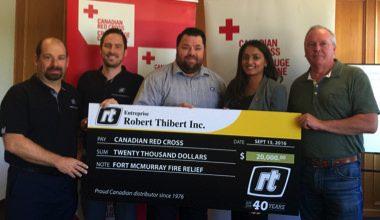 Photo of Thibert Donates to Help Fire Victims