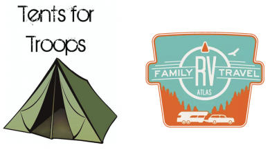 Tents for Troops, RV Family Travel Atlas