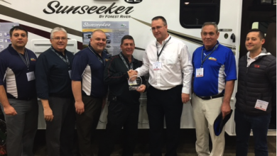 Photo of Wilkins Honors Forest River Sales Rep for 2016