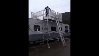 Photo of Easy Access Powered Lift For RV Roofwork