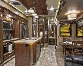 Photo of CrossRoads RV Showcasing Executive Suite Floorplan at RVIA Show