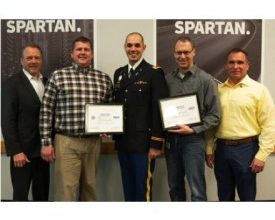 Photo of Community: Spartan Motors Leadership Awarded for Active Military Support