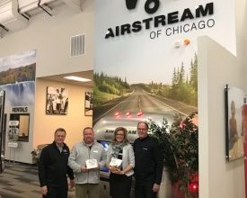Photo of Airstream Awards Sales Reps at First Open House