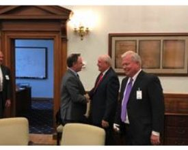 Photo of Recreation Leaders Meet with Sec. Sonny Perdue
