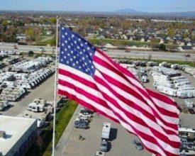 Photo of Giant Gander Flag Becomes a Target