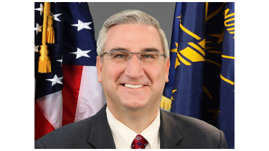 Photo of Indiana Governor Imposing Statewide Mask Order