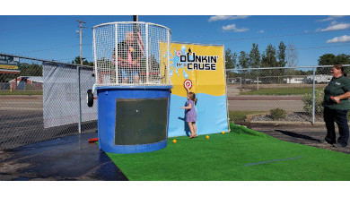 Photo of Greeneway Owner, Service Manager Dunked for Charity