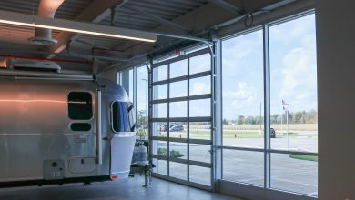 Photo of Haas Garage Doors Installed in Airstream Manufacturing Facility